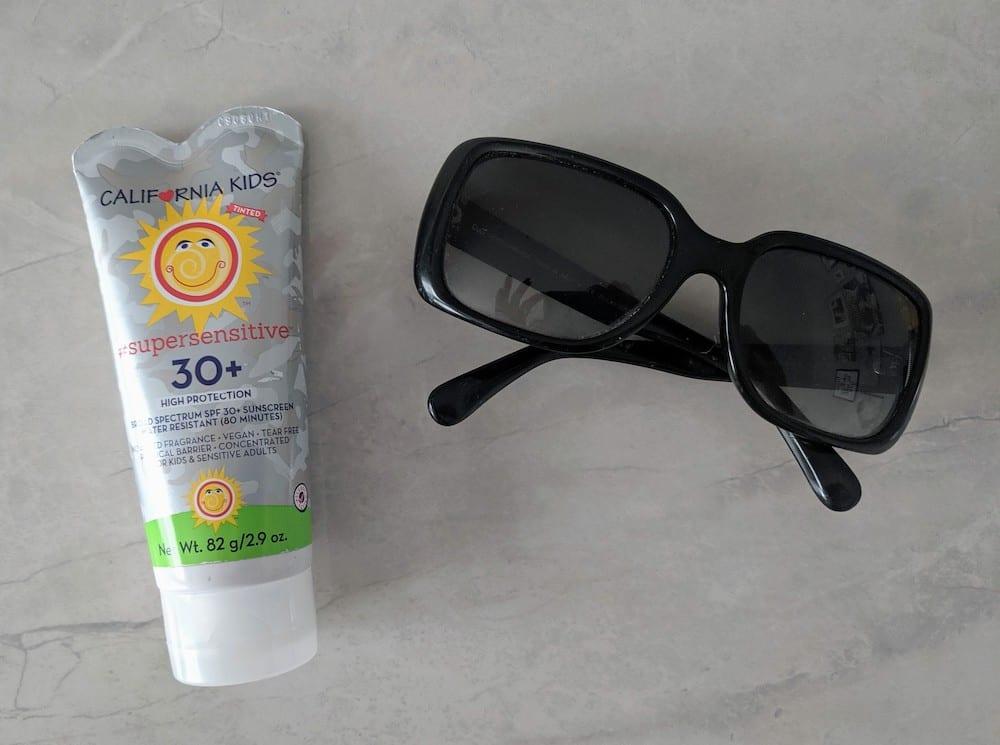 Sunglasses and California Kids Sunscreen
